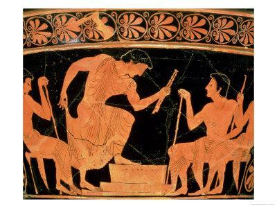 A Musical Contest, Detail from an Attic Red-Figure Calyx-Krater, from Cervetri, circa 510 BC