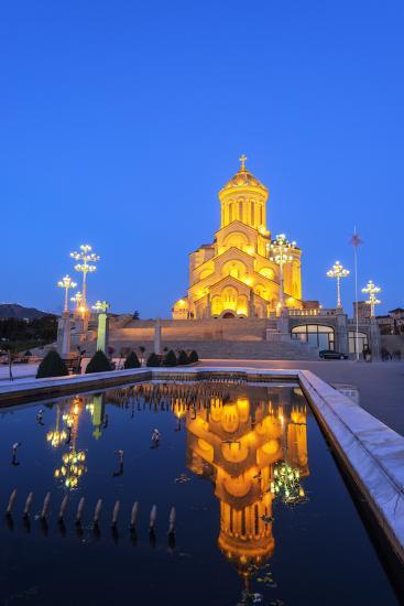Eurasia, Caucasus Region, Georgia, Tbilisi, Tbilisi Sameda Cathedral-Christian Kober-Photographic Print