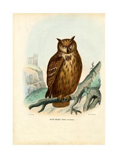 Eurasian Eagle Owl, 1863-79-Raimundo Petraroja-Giclee Print