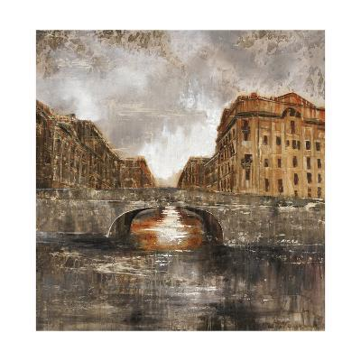 Euro City Bridge-Alexys Henry-Giclee Print