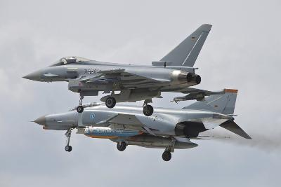 Eurofighter Typhoon and its Precedessor, the F-4F Phantom--Photographic Print
