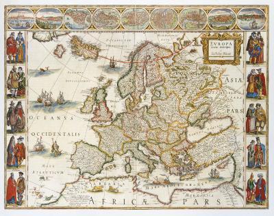 Europa, 1617-Willem Janszoon Blaeu-Premium Giclee Print