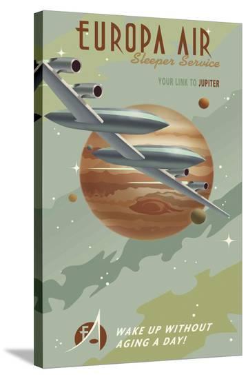 Europa Air-Steve Thomas-Stretched Canvas Print
