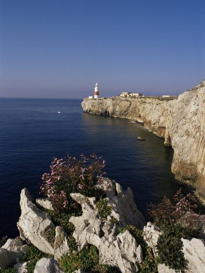 Europa Point Lighthouse, Gibraltar, Mediterranean-Charles Bowman-Photographic Print