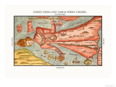 Europa Prima Pars-Heinrich Bunting-Art Print