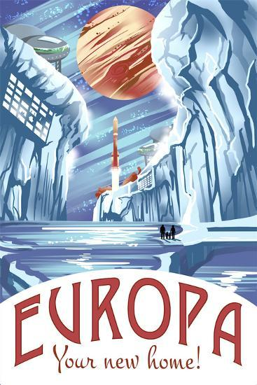 Europa Your New Home!-Lynx Art Collection-Art Print