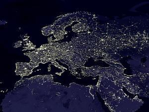 Europe At Night, Satellite Image