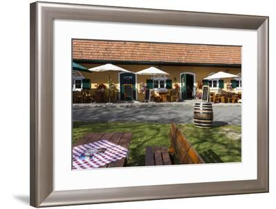 Europe, Austria, Styria, South-Styrian Wine Route, Heuriger-Gerhard Wild-Framed Photographic Print