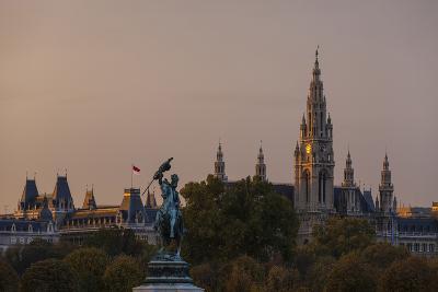 Europe, Austria, Vienna, City Hall, Equestrian Statue Archduke Charles-Gerhard Wild-Photographic Print