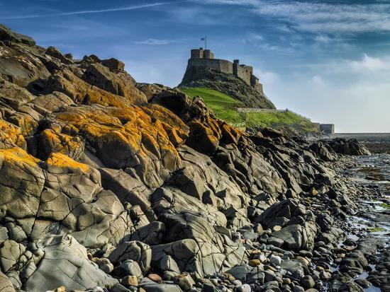 Europe, England, Northumberland, Holy Island, Lindisfarne Castle-Mark Sykes-Photographic Print