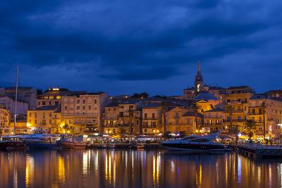 Europe, France, Corsica, Calvi, Harbour and Houses in the Dusk-Gerhard Wild-Photographic Print