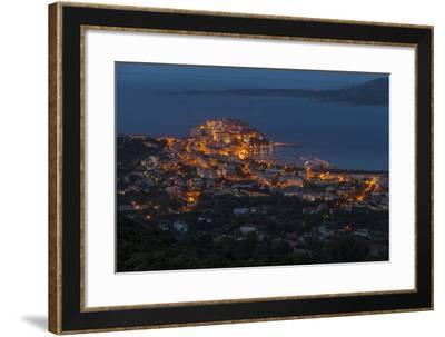 Europe, France, Corsica, Calvi, Town View, Evening Mood-Gerhard Wild-Framed Photographic Print