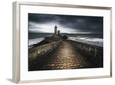 Europe, France, Plouzané - Stormy Day At The Lighthouse Of The Petit Minou-Aliaume Chapelle-Framed Photographic Print