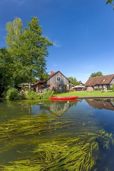 Europe, Germany, Brandenburg, Spreewald (Spree Forest), Canal, Leipe, Canoe-Chris Seba-Photographic Print