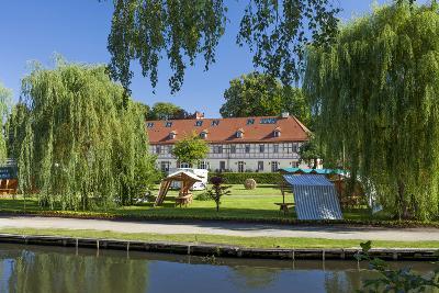 Europe, Germany, Brandenburg, Spreewald (Spree Forest), L?bbenau, Canal, Castle Manor-Chris Seba-Photographic Print
