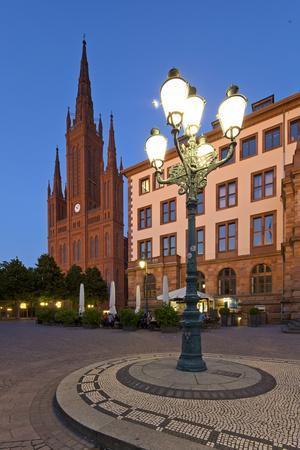 Europe, Germany, Hesse, Wiesbaden, Stone Mosaic-Chris Seba-Photographic Print