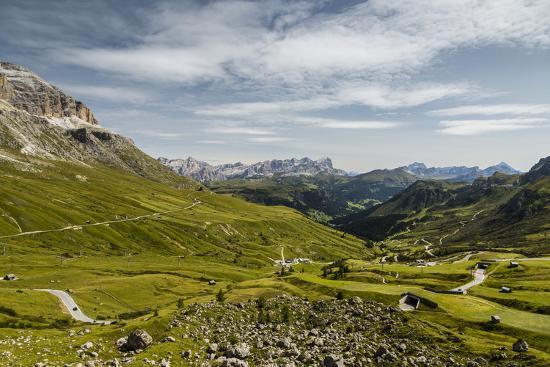Europe, Italy, Alps, Dolomites, Mountains, Pordoi Pass-Mikolaj Gospodarek-Photographic Print