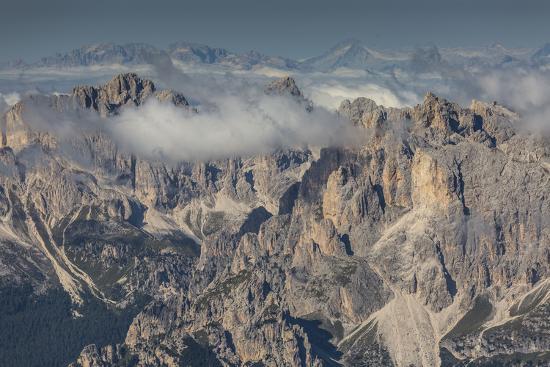 Europe, Italy, Alps, Dolomites, Mountains, Trentino-Alto Adige/Südtirol, View from Sass Pordoi-Mikolaj Gospodarek-Photographic Print