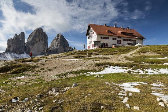 Europe, Italy, Alps, Dolomites, Sexten Dolomites, South Tyrol, Rifugio Antonio Locatelli-Mikolaj Gospodarek-Photographic Print