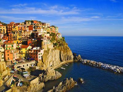 Europe, Italy, Manarola. Hillside Town Overlooking Ocean-Jaynes Gallery-Photographic Print
