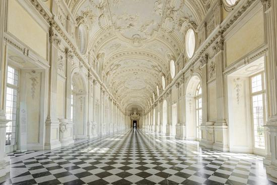 Europe, Italy, Piedmont. The Galleria Grande of the Venaria reale.-Catherina Unger-Photographic Print