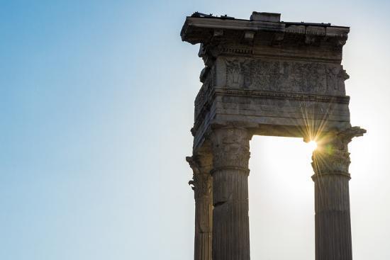 Europe, Italy, Rome. Temple of Apollo Sosiano-Catherina Unger-Photographic Print
