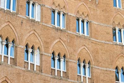 Europe, Italy, Siena. Detail of Arches Building Facades Il Campo-Trish Drury-Photographic Print