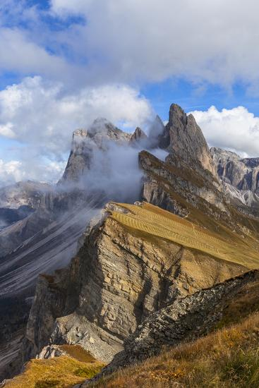 Europe, Italy, the Dolomites, South Tyrol, Seceda, Geisler Group-Gerhard Wild-Photographic Print