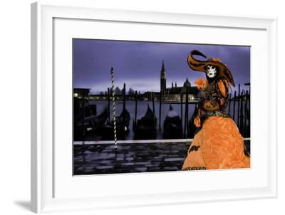 Europe, Italy, Venice. Composite of Woman in Carnival Costume-Jaynes Gallery-Framed Photographic Print