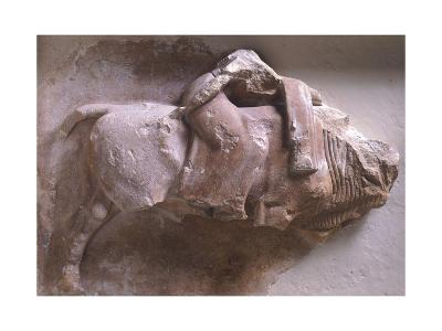 Europe on Back of Bull, High Relief from Metope of Treasury of Sicyon in Delphi, Greece--Giclee Print