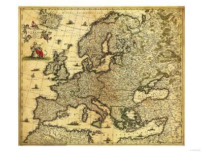 Europe - Panoramic Map-Lantern Press-Art Print