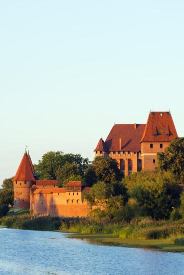 Europe, Poland, Pomerania, Medieval Malbork Castle, Marienburg Fortress of Mary, UNESCO Site-Christian Kober-Photographic Print