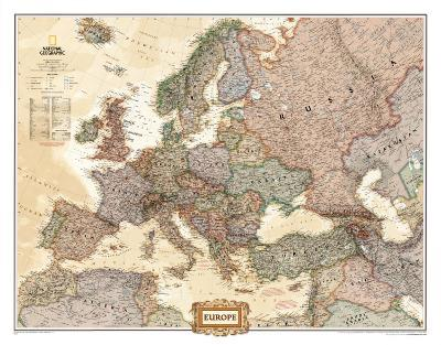 Europe Political Map, Executive Style--Laminated Poster