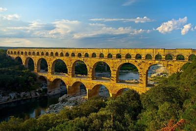 Europe, South of France, Provence, Avignon, Pont Du Gard, Aqueduct-Chris Seba-Photographic Print