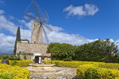 Europe, Spain, the Balearic Islands, Island Majorca, Windmill, Restaurant-Chris Seba-Photographic Print