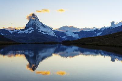 Europe, Switzerland, Valais, Zermatt, Matterhorn (4478M), Stellisee Lake-Christian Kober-Photographic Print
