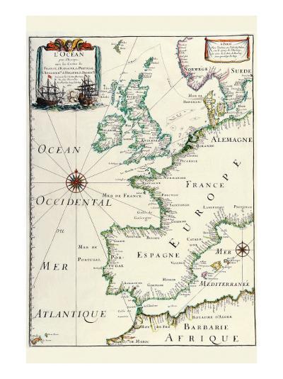 Europe-Matthias Merian-Art Print
