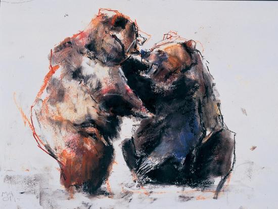 European Brown Bears, 2001-Mark Adlington-Giclee Print