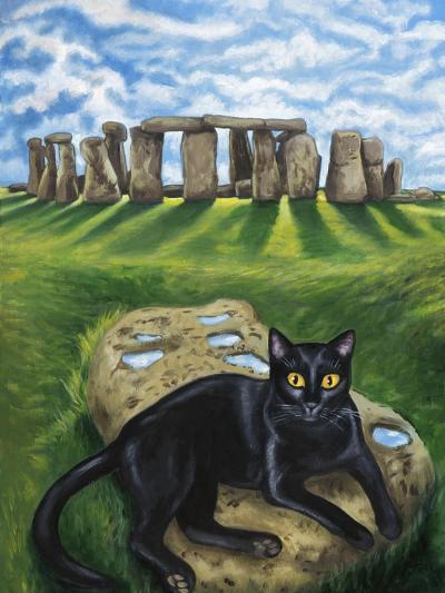 European Cat at Stonehenge/Great Britain-Isy Ochoa-Giclee Print