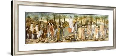 European Gentlemen in Procession of Orientals, C.1720 (Ink and W/C on Paper, Laid Down on Cotton)--Framed Giclee Print