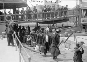 European Immigrants Disembarking at Ellis Island, 1907