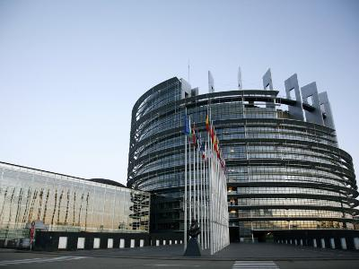 European Parliament Building, Strasbourg, Alsace, France, Europe-Yadid Levy-Photographic Print