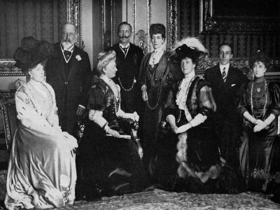 European Royalty at Windsor Castle, 17th November 1907--Giclee Print