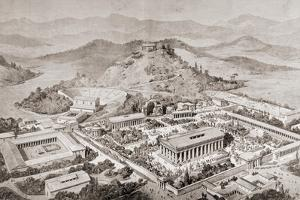 Artist's Impression of Olympia, Greece, at the Time of the Ancient Olympic Games, from 'El Mundo… by European School