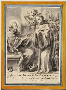King Henry of France and Saint Bernard of Clairvaux by European School