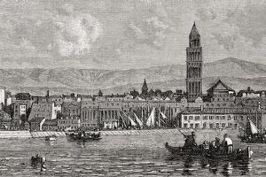 Split, Croatia, from 'El Mundo En La Mano', Published 1878 by European School