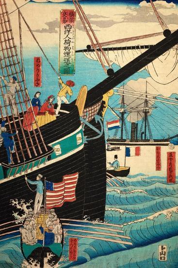 European Ship in Japanese Harbor, Circa 1860, Number 3-Sadi Radi-Giclee Print