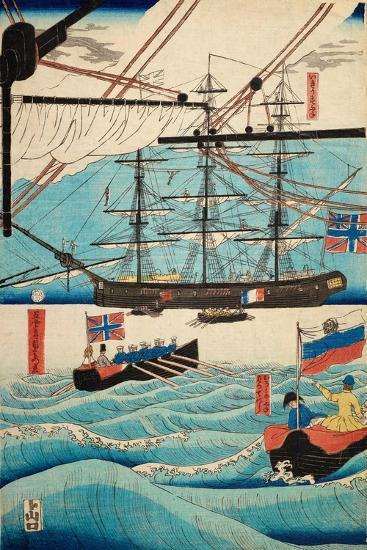 European Ship in Japanese Harbor, Circa 1860, Number 4-Sadi Radi-Giclee Print