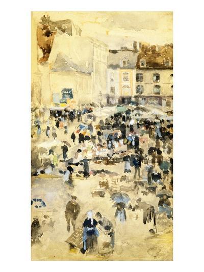 European Street Scene by Maurice Prendergast-Geoffrey Clements-Giclee Print