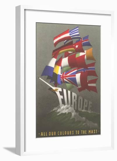 European Union--Framed Art Print